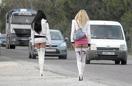 Muestra de escenario de las putas callejeras en Sevilla