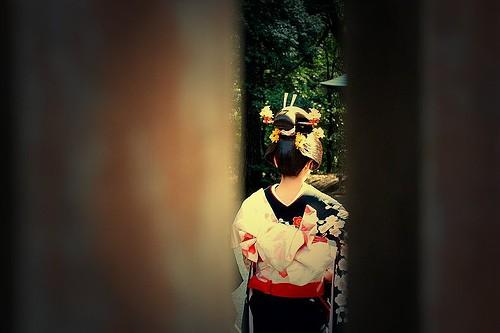 Geisha asiática sumisa