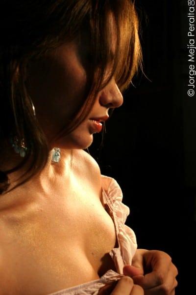 Chica sensual vestido